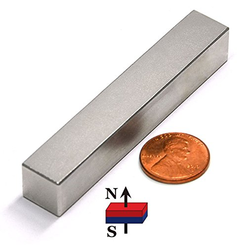 CMS Magnetics Super Strong Grade N52 Neodymium Rare Earth Magnet 3x1/2x1/2 Inches - One Piece