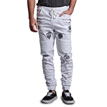 Victorious Scrunch Stacked Patched Jogger Pants JG890