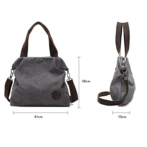 Crossbody Tote Shoulder Function Byd Hand Mutil Grey Women's Bag Female YRCwqU4