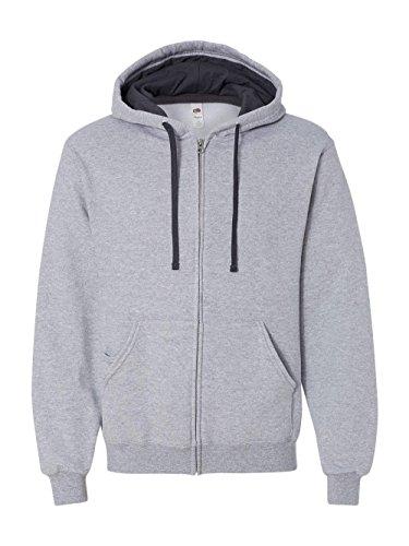 n's Full-Zip Hooded Sweatshirt, Athletic Heather, Small ()