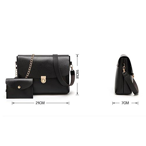 Deux Mode à Sac Phone Mini Cross Body Mobile Sacs Pièces Bag Bag Black Femmes Bandoulière Messenger YOHaqn