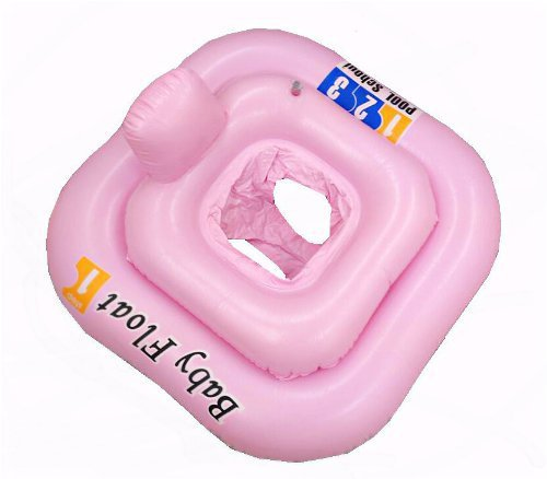 PINK SQUARE Baby Infant Inflatable Swimming Seat Ring 0-12m just4baby