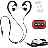 Swimbuds Fit Waterproof Headphones and 8 GB SYRYN waterproof MP3 player with shuffle feature …