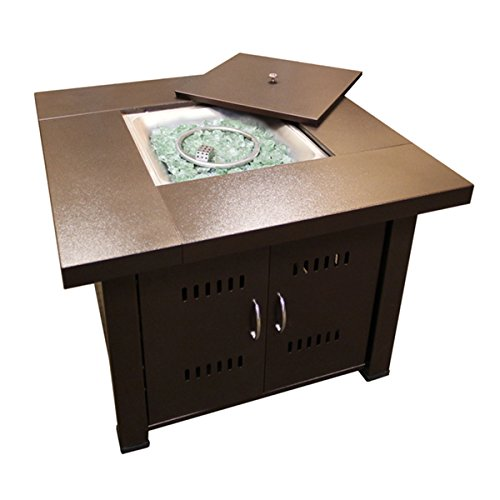 Hiland Propane GS-F-PC Brown Hammered-bronze Fire Pit For Sale