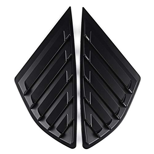 Ford Rear Quarter - Exterior Accessories Body Armor - Car Rear Quarter Panel Side Vent Window Louvers Covers for Ford Fusion 4 Door - Matte Black - 2 X Side Vent Window Covers 1 X Roll of Double Side Tape