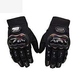 Rivoxx Probiker Synthetic Leather Motorcycle Gloves (Black, Medium)