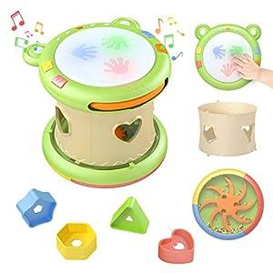 TUMAMA Jouet Musical Bébé,Tambour Musical Jouet Interactif, Jeux Centres d'activités pour Enfants,Jouets Musicaux D…