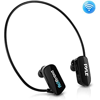 52a7b66ac78 Pyle MP3 Player Bluetooth Headphone - Waterproof Swim IPX8 Flexible  Wrap-Around Style Headphones Built-in Rechargeable Battery Bluetooth w/ 8GB  Flash Memory ...
