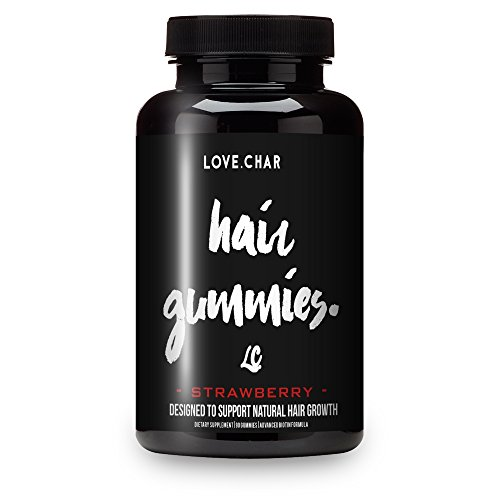 Love Char Womens Faster Fuller Longer Hair Supplements! Biotin Packed Growth Gummy Vitamins (Cherry Gummies, - Count 60 Gummy
