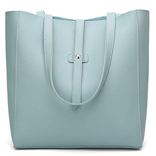 (Fashion Women Girl Outdoor Leather Zipper Solid Color Shoulder Bag Hand Bag)
