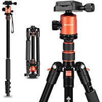 "Geekoto 58"" Ultra Compact and Lightweight Aluminum Tripod..."