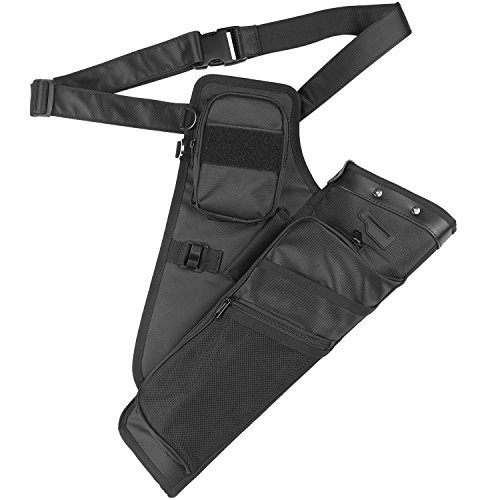 XTACER 2 Dividers Hip Quiver Training Camo Archery Arrow Quiver Holder Bow Belt Waist Hanged Target Quiver