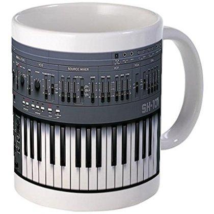 """Price comparison product image 11 ounce Mug - SYNTHESIZER Mug - S White """""""