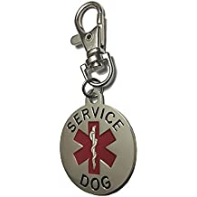 Service Dog ID Tag Double Sided for Animal Collar