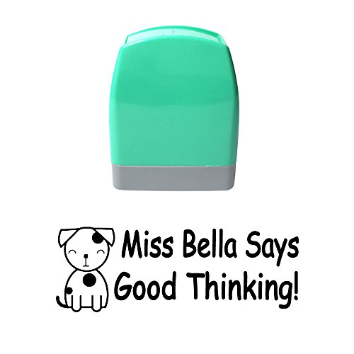 Good Thinking Customized Rubber Stamp Label Whiffet Dog Puppy Design Rectangle Holiday Gift Homework Self Inking Return Address Stamps Seal (Book Puppies Address)