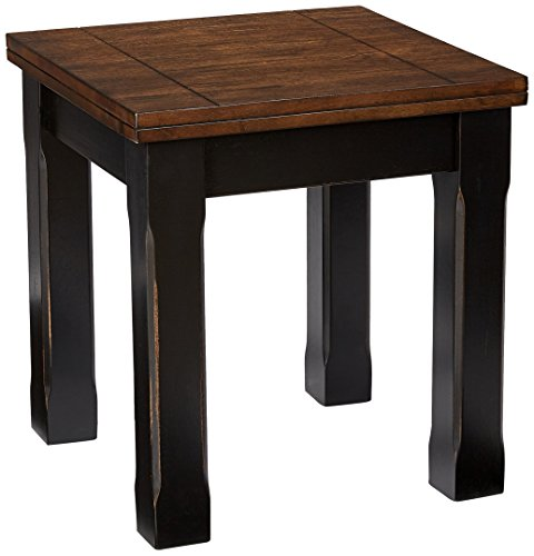 Simmons Upholstery End Table, Black/Oak For Sale