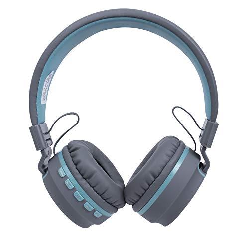 Headset candy, oex, microfones e fones de ouvido, azul claro.
