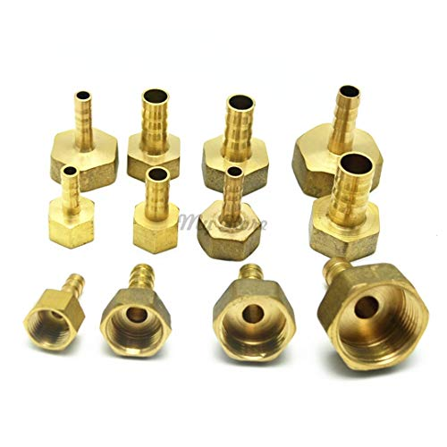 (304Gang Brass Female Barb Hose Tail Fitting Fuel Air Gas Water Hose Oil 4M-12M 1/8'' 1/4'' 1/2'' 10mm to 01)