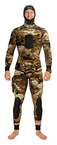 MAKO Spearguns Spearfishing Wetsuit 3D Yamamoto Reef Camo 7mm 2 Piece (Large)