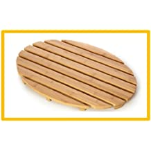 Bamboo Wood Oval Duck Board Bath Mat Set Bathroom Shower by Blue Canyon