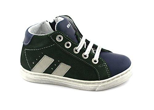Balocchi BLC 24/29 971 791 Urbanes Grün Baby Sneaker Schnürsenkel Mitte Reißverschluss Verde