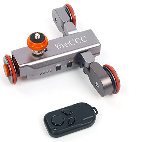 Autodolly Pro II Motorized Electric Track Slider Dolly Car 3-Wheel Video Pulley Rolling Skater for DSLR Camera by YaeCCC