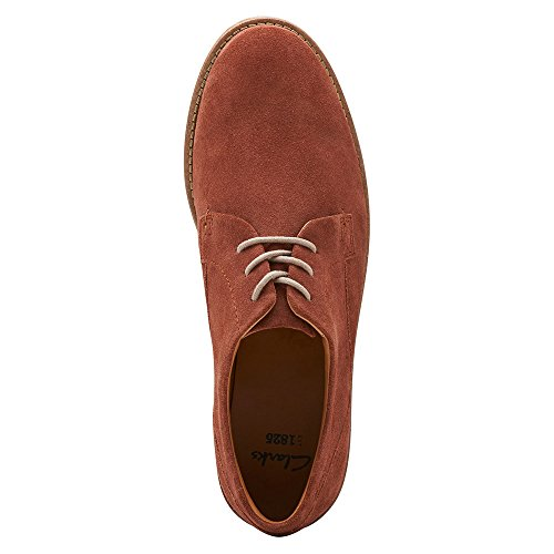 Clarks Mens Raspin Piano Oxford Red