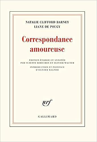 Livre pdf gratuit a telecharger Correspondance amoureuse