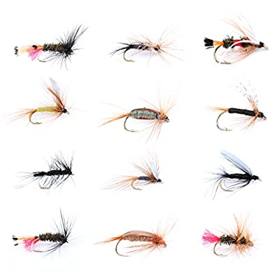Maxcatch Dry / Wet / Nymph Fly Fishing Flies Kit Assortment Fly Fishing Lure