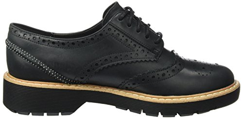 Clarks Witcombe Echo, Scarpe Oxford Donna Nero (Black Nubuck)