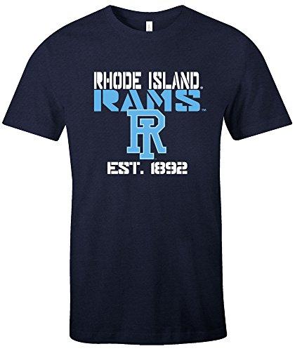 NCAA Rhode Island Rams Est Stack Jersey Short Sleeve T-Shirt, (Rams Football T-shirt)