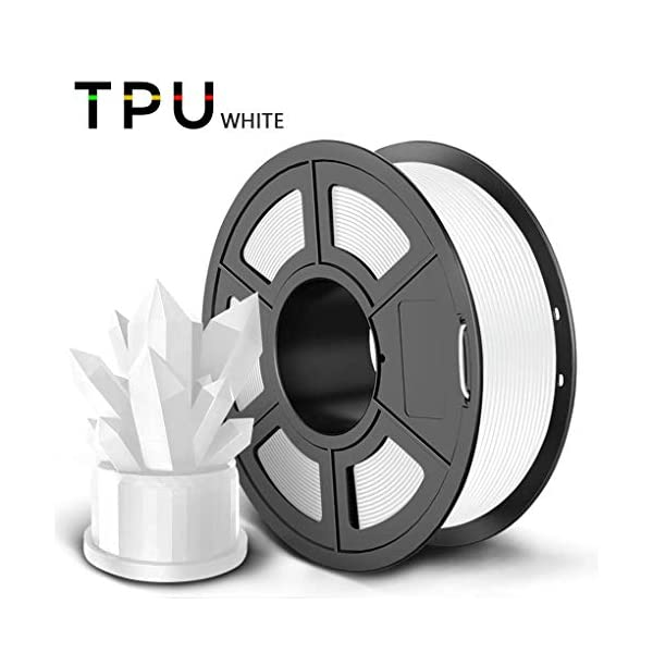Flexible tpu 1kg filament 1.75mm, 3d printing filament, used for 3d printer and 3d printing pen, multiple colors (color : white)