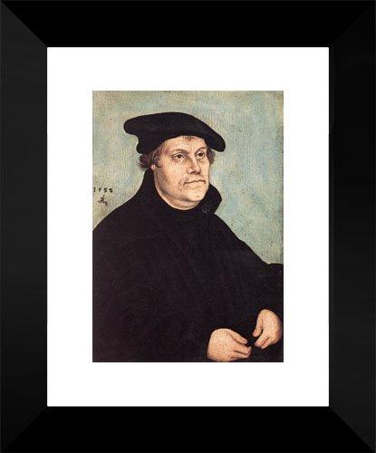 (Portrait of Martin Luther 15x18 Framed Art Print by Cranach the Elder, Lucas)