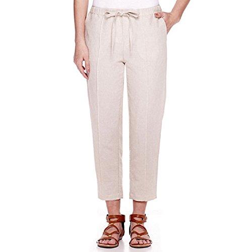 Liz Claiborne Wide-Leg Linen-Blend Pants Petite Size PS