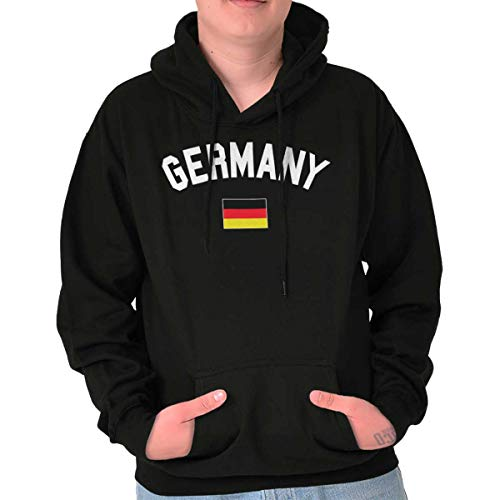 Brisco Brands Germany Country Flag Soccer Fan Pride Gift Hoodie Black