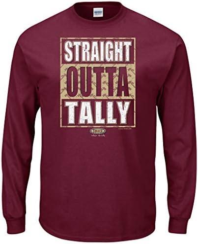 Smack Apparel Florida State Football Fans Straight Outta Tally Garnet T Shirt Sm-5X