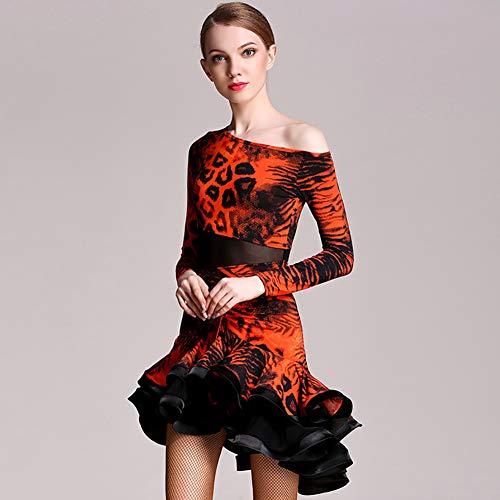 Festa Gonna Di Orange Esame Abiti Elegante Donna Concorrenza Flessibile Xhtw Vestito amp;b Danza Impostato Professionale Latino Palcoscenico Costumi Adulto wF7CCpxnZq