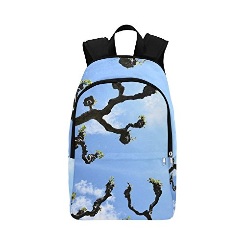 (YUMOING Plane Tree Kahl Branches Crown Avenue Spring Sky Casual Daypack Travel Bag College School Backpack For Mens And Women)