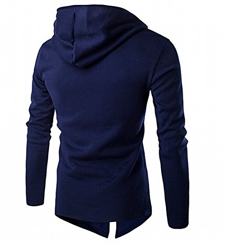 Suit Top Mens Gun Flight (spyman Fashion Men's Tops with Hood Zip Cotton Bomber Jacket Stylish Navy Blue)