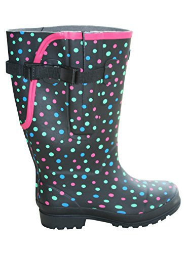 Wide Fit Ankle Boot - Jileon Extra Wide Calf Rubber Rain Boots with Rear Expansion - Wide in Calf, Foot and Ankle