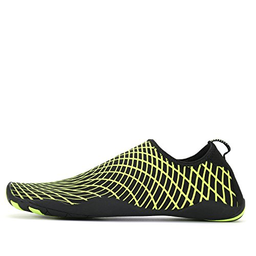 ANLUKE Water Sports Shoes Wading Aqua Slip on For Men Women Kids Green/Web KP9ItxppM