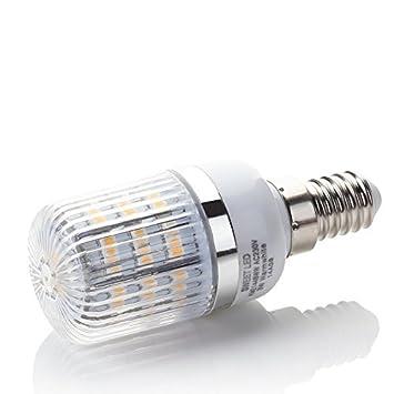 Sweet Led LED Bombilla E14, maíz Plus Apertura, ángulo de haz de 360 °, 3 W, blanco cálido: Amazon.es: Hogar