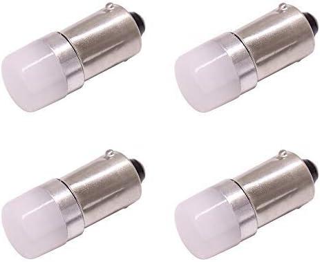 BA9S T4W Bombillas de luz LED para automóvil, 9V-24V 200LM SMD 3030 Lámpara blanca 6000K, para luces de matrícula luces interiores Luces de cúpula Luces de señal de giro Luces de señal, 4 paquetes
