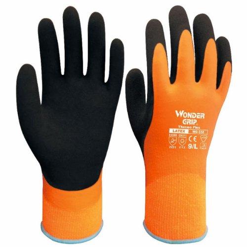 Gloves Waterproof Thermal (Evaliana Men's Windproof Waterproof Work Gloves Wonder Grip Outdoors Thermal Mittens)
