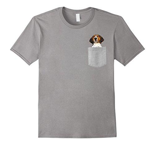 Mens Dog in Your Pocket Treeing Walker Coonhound t-shirt shirt Large (Treeing Walker)