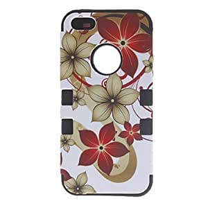 3-in-1 Design Big Flowers Pattern Protective Case for iPhone 5/5S (Assorted Colors) , Blue