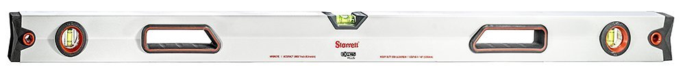 Starrett Exact Plus KLBXP48-1-N Aluminum Box Beam Magnetic Level with 3 Block Vials, 48'' Length