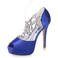 La Mujer Sandalias Peep Toe Zapatos De Boda