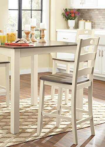 Signature Design by Ashley D335-223 Woodanville Counter Height Dining Room Table and Bar Stools (Set of 5) Cream/Brown by Signature Design by Ashley (Image #4)