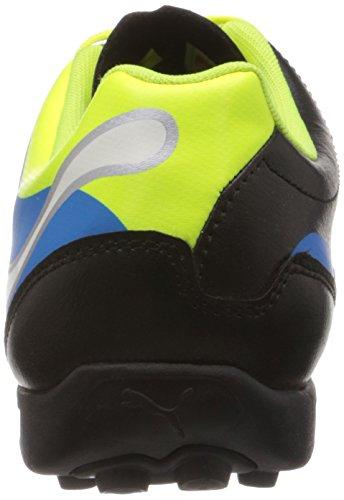 Puma PowerCat 4 TT - Zapatos de fútbol de material sintético hombre Schwarz (black-fluo yellow-white-brilliant blue 03)